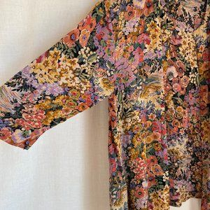 Vintage Tops - Vintage 90's Floral Open-Front Boho Kimono XL